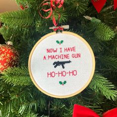 Die Hard Christmas, Christmas Holidays, Christmas Crafts, Christmas Decorations, Christmas Movies, All Things Christmas, Cross Stitch Embroidery, Cross Stitch Patterns, Grinch Stole Christmas