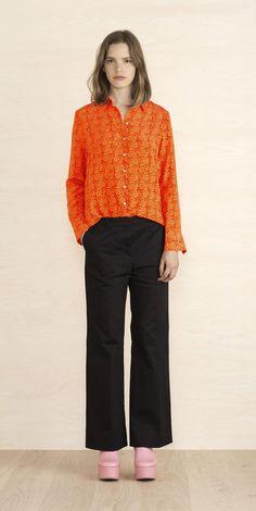 Penny shirt by Marimekko Marimekko, Online Shopping Clothes, Textile Design, Fashion Prints, Fashion Bags, Fabric, Shirts, Collection, Ss16