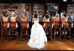 Bride & Bridesmaids @ the bar