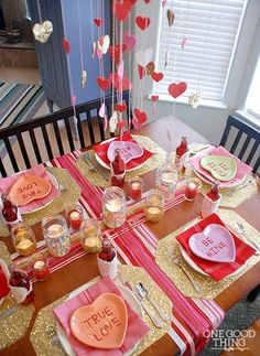 Valentine& Day Table by One Good Thing by Jillee. 25 Valentine& Day Table by One Good Thing by Jillee. 25 Best Valentine& D… Valentine& Day Table by One Good Thing by Jillee. 25 Best Valentine& D… – - Valentines Day Dinner, Valentines Day Decorations, Valentine Day Love, Valentine Day Crafts, Saint Valentine, Valentine Party, Valentine Table Decor, Valentine Ideas For Her, Inexpensive Valentines Day Ideas