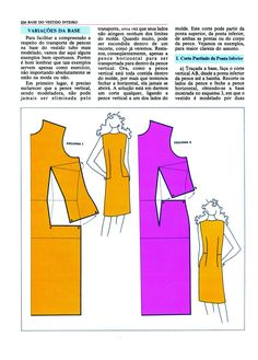 Like the one of the left best Easy Sewing Patterns, Clothing Patterns, Dress Patterns, Bodice Pattern, Top Pattern, Pattern Cutting, Pattern Making, Make Your Own Clothes, Pattern Drafting