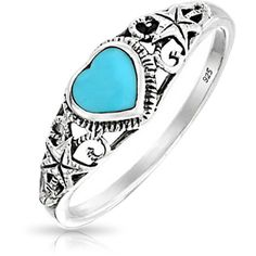 Bling Jewelry Kiss the Girl Ring ($21) ❤ liked on Polyvore featuring jewelry, rings, accessories, blue, heart shaped jewelry, heart jewelry, star fish jewelry, imitation jewelry and artificial jewellery