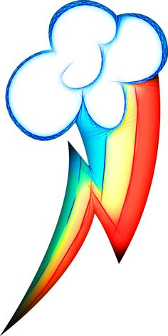 Neon Rainbow Dash's Cutie Mark (AKVIS Abstract)