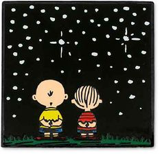 Charlie Brown and Linus contemplate their place in the Universe.