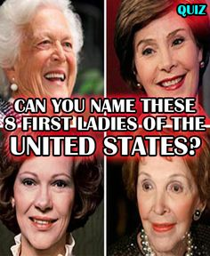 A man is only as strong as the woman who stands next to him. Can you name these 8 first ladies? Start the quiz and find out!