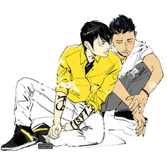 A wonderful picture of Alec Lightwood and Magnus Bane by Cassandra Jean