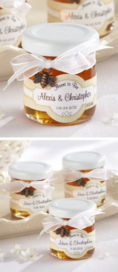 """Personalized """"Meant to Bee"""" Mini Honey Jars *SO cUte*"""