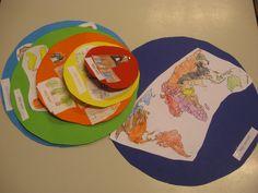 'De wereld' is voor kinderen moeilijk te bevatten. Door het in lagen uit te smeren (mijn huis > mijn dorp > mijn land > mijn werelddeel > mijn wereld) wordt het meer concreet voor de kinderen.