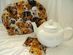 Teapot Cozy Assorted Dogs Poodle to Shepard by SarahYsCottage