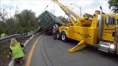 Tractor Trailer wreck on Route 80 in Knowlton Twp, NJ. One 75 ton and one . Big Rig Trucks, Tow Truck, Towing And Recovery, Tractors, Rigs, Awesome, Youtube, Semi Trucks, Big Trucks