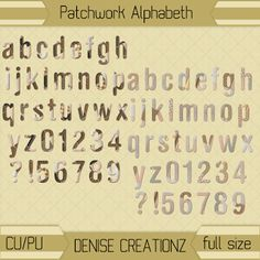 Denise Creationz: Patchwork Alphabeth