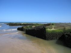 Remains of Artificial Harbors from Invasion of Normandy in WWII