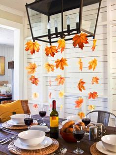 Dress Up Your Autumn Table With Fall Leaves
