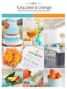turquoise and orange wedding colors   Turquoise and orange wedding inspiration ...   Rustic/Vintage Wedding ...