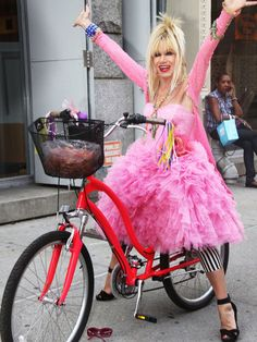 I LOVE BETSEY JOHNSON! I'd be on the ground w my tutu all snagged up in the spokes though so RAaaaSpect girl!