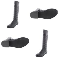 MIA  Coraline Black Quilted Knee-High Boots 7 Medi MIA  Manufacturer Color: Black Retail: $120.00 Condition: New  Style Type: Fashion - Knee-High Shoe Width: Medium (B, M) Heel Height (Inches): 1 1/4 Inches Platform Height (Inches): 1/4 Inches Shaft Height (Inches): 15 Inches Shaft Width (Inches): 14 Inches Closure: Side Zipper Material: Man Made Materials Fabric Type: Faux Leather Specialty: Textured. New Without Box; Store Display: Shoes are in excellent condition on top, bottoms show…