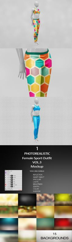 Female Sport Outfit MockUp. Product Mockups
