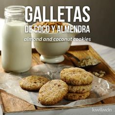 Estas deliciosas galletas hechas a base de coco y almendra son perfectas para cuidarse, ya que no tienen harina y su sabor es único. Mexican Food Recipes, Sweet Recipes, Real Food Recipes, Dessert Recipes, Cooking Recipes, Yummy Food, Healthy Cookies, Healthy Sweets, Tasty Videos