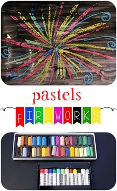 Frog in a pocket: Exploring Pastel Crayons - Fireworks Pictures, Kids Art and Crafts Firework Art Ks1, Firework Poems, Firework Painting, Bonfire Night Activities, New Years Activities, Autumn Activities, Activities For Kids, Diwali Fireworks, Fireworks Art