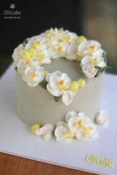 [New arrival :: Orchid flower] 버터크림으로 만든 호접난 꽃케이크 ^^ : 네이버 블로그
