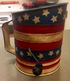 Americana-Painted Sifter