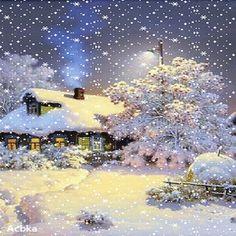 Merry Christmas Gif, Christmas Scenes, Christmas Mood, Christmas Pictures, Christmas Lights, Vintage Christmas, Vintage Winter, Christmas Table Centerpieces, Gold Christmas Decorations