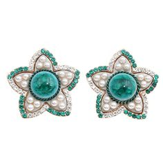 Zinc alloy with #resin&glass #pearl & rhinestone #earring, more colors for choice http://www.beads.us/product/Zinc-Alloy-Stud-Earring_p267380.html?Utm_rid=194581