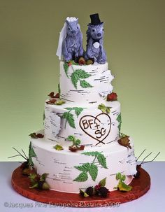 Squirrel Birch Bark Cake by Jacques Fine European Pastries (AWWWW!)