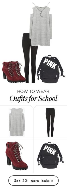 """School outfit"" by ellababy13 on Polyvore featuring Zara, KC Designs, Nine West and Victoria's Secret"