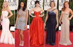 Hayden Panettiere, Thandie Newton, Zooey Deschanel, Jodie Foster e Isla Fisher en la alfombra roja de los Globos de Oro 2013 #people #celebrities #famosas #actrices #goldenglobes
