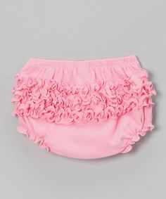 Take a look at this Light Pink Ruffle Diaper Cover by Zootie B. Little