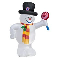 It's Frosty!  Frosty the Snowman airblown figure, found at Target. I love frosty. Might have to get it! Less than $30...