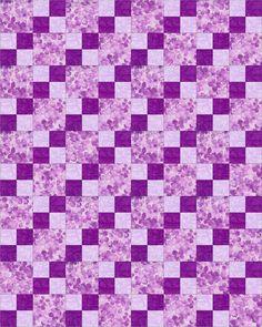 Lilac Luster Flower Garden Pre-Cut Kit Blocks Quilt - Quilt Kit - Kit Quilt Negozio