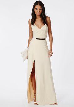 One-Shoulder-Bustier-Split-Maxi-Dress - Dressizer