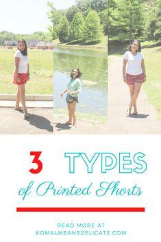 Printed shorts, Floral Print, Animal Print, stripped print, summer shorts, summer outfits