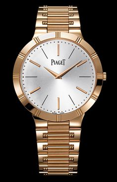 Cellini Jewelers Piaget Dancer 38mm 18K RG Ultra thin manual wind