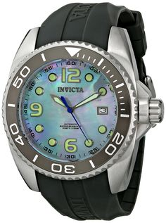 Invicta Men's 6998 Pro Diver Collection Stainless Steel and Polyurethane Automatic Watch with Mother-of-Pearl Dial