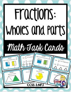 This set of 24 task cards covers basic Fractions is also part of a 30 set entire year bundle for 3rd graders! Great focused practice for your students and a huge time saver for busy teachers! (TpT resource)