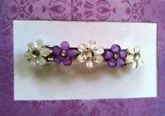 Elegant lady hair barrette Lilac flower lady or girl by LensaStyle