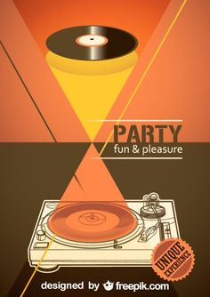Vector music poster