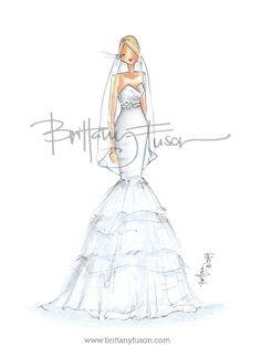 Brittany Fuson: Custom Bridal Illustration