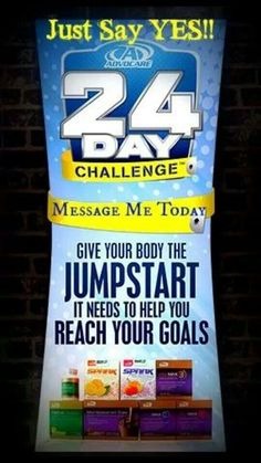 "Be a ""CHAMPION"", say ""YES"" to Advocare, jumpstart your weightloss journey today on the 24 Day Challenge. Inbox me for details. www.advocare.com/130528428"