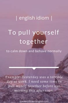 English idioms. A common idiom to use in a time of stress.