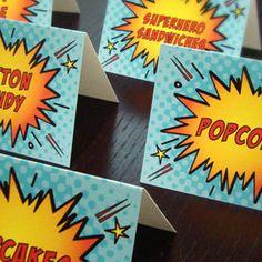 Super Hero Food Labels 2