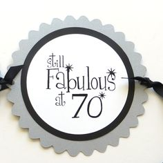 70th Birthday Banner  Still Fabulous at 70  by CarasScrapNStampArt