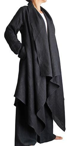 柔らかヘンプのデザインオープンコート