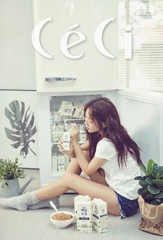 Soyu smiles with soy milk for 'CeCi' | allkpop.com