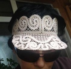 Advanced Embroidery Designs. Battenberg lace visor. Instructions on how to embroider the machine designs.