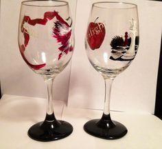 Twilight :)  All 4 books on set of 2 glasses $50