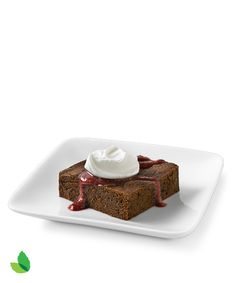 Brownies with Raspberry Coulis with Truvía® Baking Blend